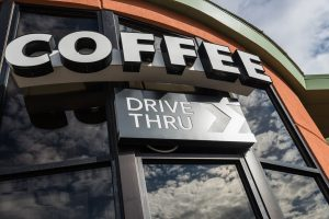 channel letters coffee drive thru exterior signs
