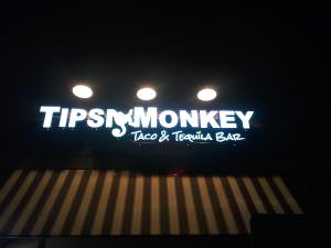 Exterior Lighted Sign Tipsy Monkey